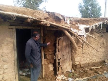 تخریب چند منزل روستایی در اندیمشک