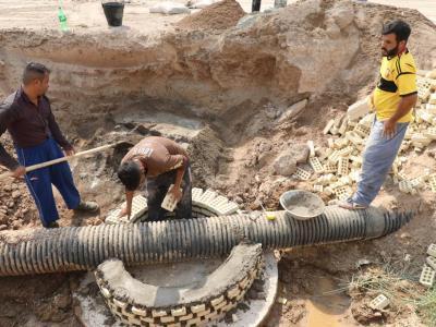 رضایت صددرصدی زائرین اربعین حسینی از خدمات شرکت آبفا اهواز در مرز چذابه