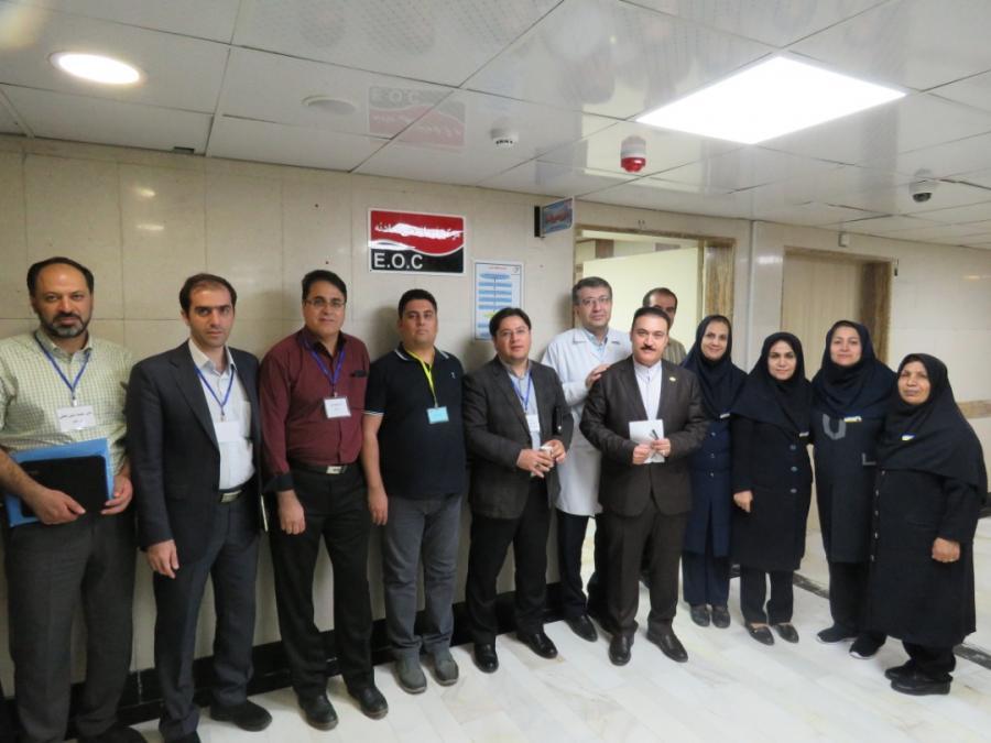 بازدید تیم ارزیابی استانداردهای وزارتی اعتبار بخشی از بیمارستان شهید بقایی ۲ اهواز