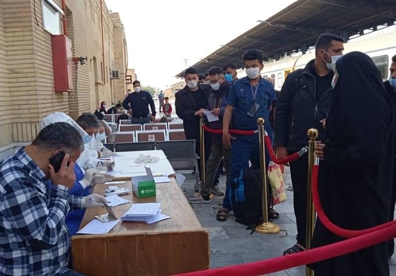 جدال کادر درمانی و تشخیصی با کرونا در ایستگاههای راه آهن و فرودگاههای خوزستان 