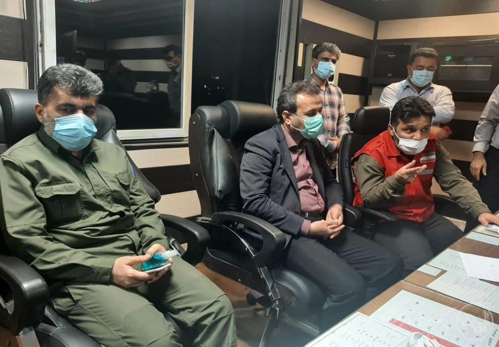 بازدید شهردار منتخب اهواز از سازمان آتش نشانی در شب چهارشنبه سوری