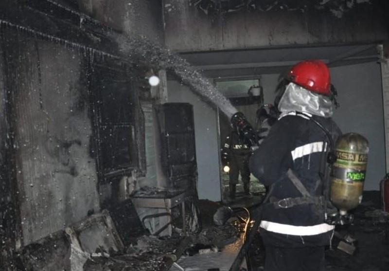نجات ۱۵ مسافر در حریق هتل ایران اهواز