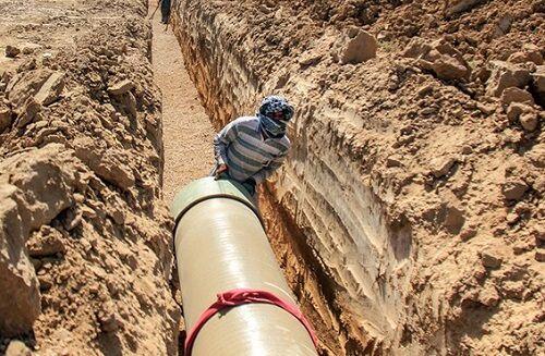 آغاز عملیات اجرایی طرح آب رسانی به منطقه امیرآباد آبادان