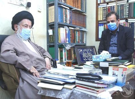 دیدار شهردار اهواز با آیت الله شفیعی نماینده مردم خوزستان در مجلس خبرگان رهبری