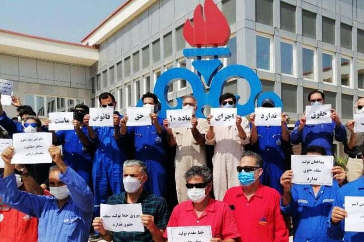 وزارت نفت کارگران را به عنوان فرزندان سر راهی هم نمیشناسد/ تبعیض بین پسران خوب زنگنه و سایر کارکنان