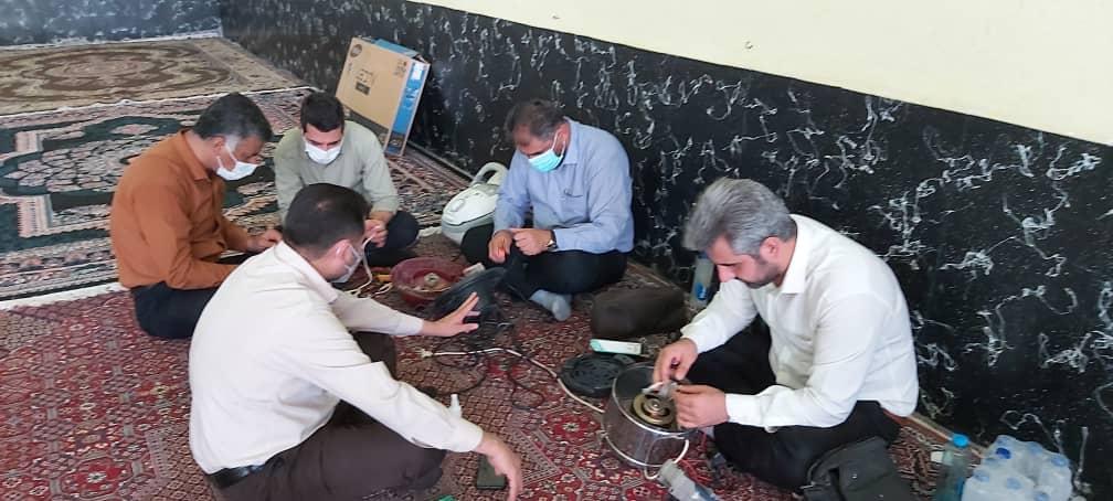 عین دو، میزبان یکصدوسومین اردوی کارگروه جهادی شرکت تعمیرات نیروگاه های برق آبی خوزستان