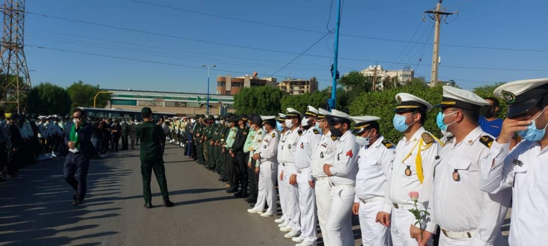 تشییع پیکر شهید مدافع امنیت در آبادان